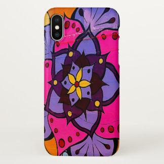 Coque iPhone X Cas de l'iPhone X de mandala de fleur