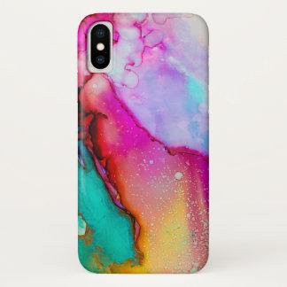 Coque iPhone X Cas de l'iPhone X de Mashup Apple de coloration