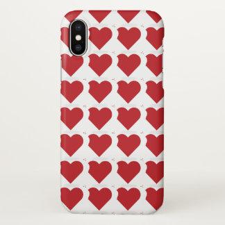 Coque iPhone X Cas de l'iPhone X de morsure d'amour