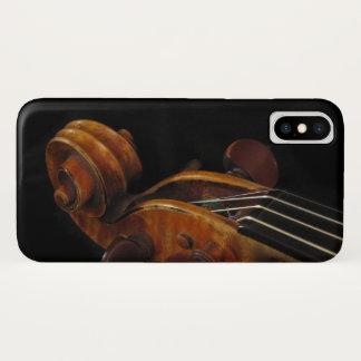 Coque iPhone X Cas de l'iPhone X de musique de rouleau de violon