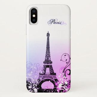 Coque iPhone X Cas de l'iPhone X de Paris de Tour Eiffel