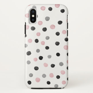 Coque iPhone X Cas de l'iPhone X de point de polka