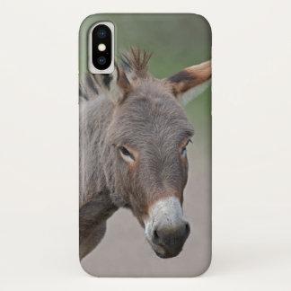 Coque iPhone X Cas de l'iPhone X de portrait d'âne