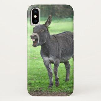 Coque iPhone X Cas de l'iPhone X de rire d'âne