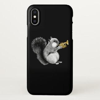 Coque iPhone X Cas de l'iPhone X de trompette d'écureuil