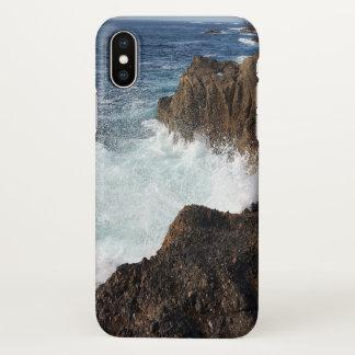 Coque iPhone X Cas de l'iphone X d'éclaboussure d'océan de