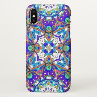 Coque iPhone X cas de l'iPhone X dessinant le griffonnage floral
