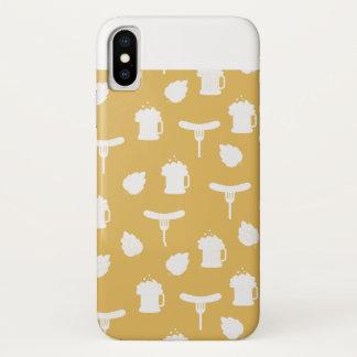 Coque iPhone X Cas de Smartphone en bière et saucisses