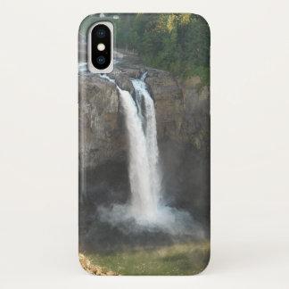 Coque iPhone X Cas de téléphone d'automnes de Snoqualmie