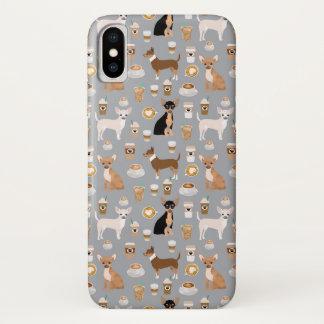 Coque iPhone X Cas de téléphone de café de chiwawas
