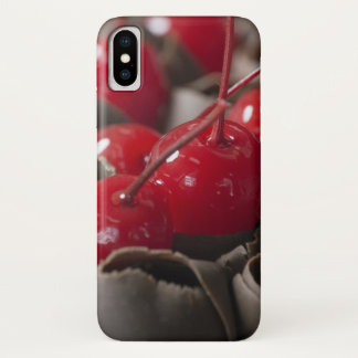 Coque iPhone X Cas de téléphone de cerises couvert par chocolat