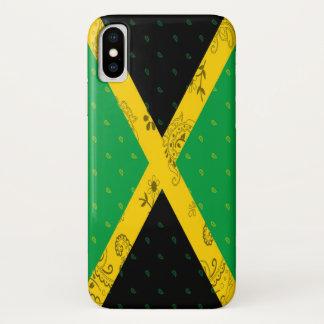 Coque iPhone X Cas de téléphone de drapeau de la Jamaïque