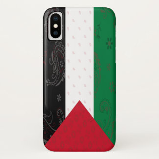 Coque iPhone X Cas de téléphone de drapeau de la Palestine