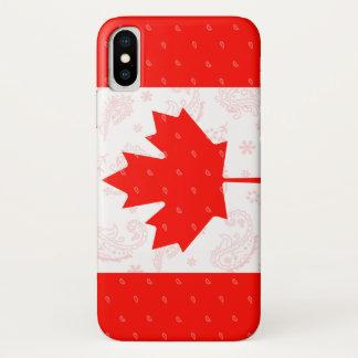 Coque iPhone X Cas de téléphone de drapeau du Canada