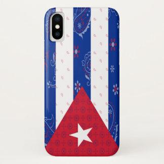 Coque iPhone X Cas de téléphone de drapeau du Cuba