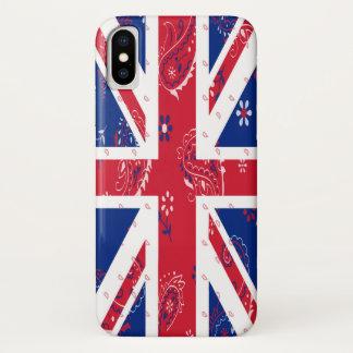 Coque iPhone X Cas de téléphone de drapeau du Royaume-Uni