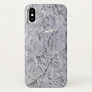 Coque iPhone X Cas de téléphone de pierre de granit