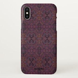 Coque iPhone X Cas de téléphone portable de HAMbyWG - gitan mauve