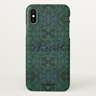 Coque iPhone X Cas de téléphone portable de HAMbyWG - gitan vert