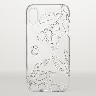 Coque iPhone X Cas de téléphone portable de litchi (clair)