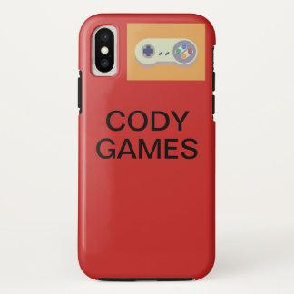 Coque iPhone X Cas d'IPhone X de jeux de Cody