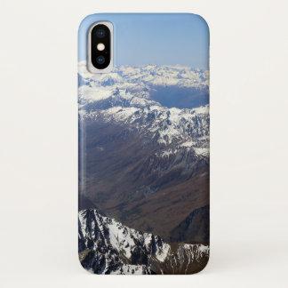 Coque iPhone X Cas d'Iphone X de montagne à peine là