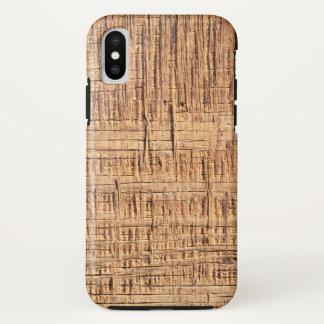 Coque iPhone X Cas en bois approximatif de téléphone de grain