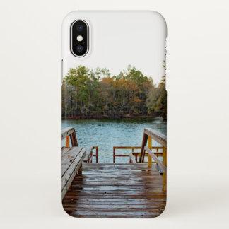 Coque iPhone X Cas extérieur de téléphone de pilier de pêche de