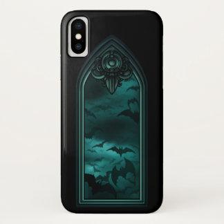 Coque iPhone X Cas gothique de l'iPhone X de la fenêtre 6 de