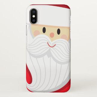 Coque iPhone X Cas mignon de l'iPhone X de Noël | du père noël