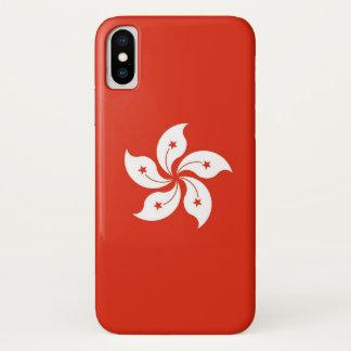 Coque iPhone X Cas patriotique d'Iphone X avec le drapeau de Hong