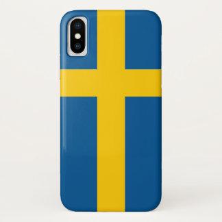 Coque iPhone X Cas patriotique d'Iphone X avec le drapeau de la