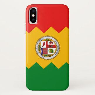 Coque iPhone X Cas patriotique d'Iphone X avec le drapeau de Los