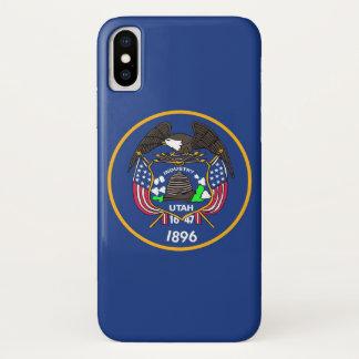 Coque iPhone X Cas patriotique d'Iphone X avec le drapeau d'état