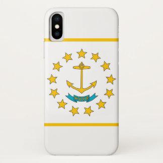 Coque iPhone X Cas patriotique d'Iphone X avec le drapeau d'Île