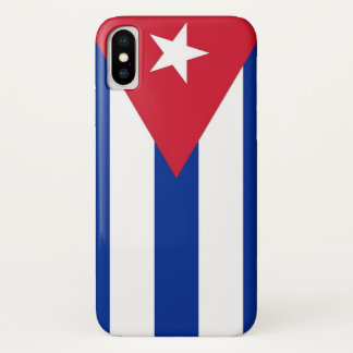 Coque iPhone X Cas patriotique d'Iphone X avec le drapeau du Cuba