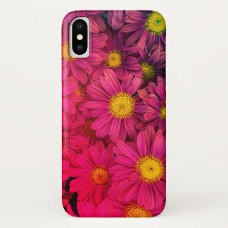 Coque iPhone X Cas rose de l'iphone X de marguerites, caisse