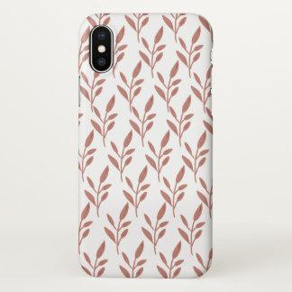 Coque iPhone X Cas rose de l'iPhone X de plante