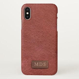 Coque iPhone X Cas simili cuir rouge sang de l'iPhone X de