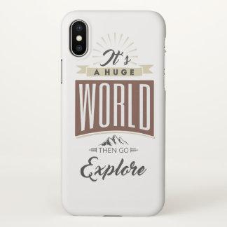 Coque iPhone X C'est un monde énorme puis disparaît les explorent