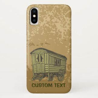 Coque iPhone X Chariot gitan de caravane