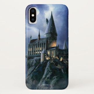 Coque iPhone X Château | Hogwarts éclairé par la lune de Harry