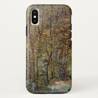 Coque iPhone X Chemin de Van Gogh dans les bois, beaux-arts
