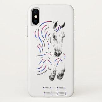 Coque iPhone X Cheval sautant élégant de pullover