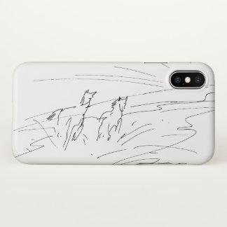 Coque iPhone X Chevaux