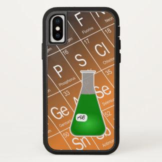 Coque iPhone X Chimie verte de flacon erlenmeyer (Avec des