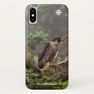 Coque iPhone X Chute - faucon pérégrin