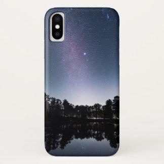 Coque iPhone X Ciel étoilé sur la mer