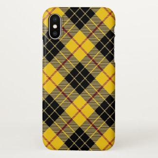 Coque iPhone X Clan écossais MacLeod de plaid de tartan de Lewis