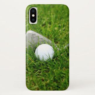 Coque iPhone X Club de golf et boule de golf